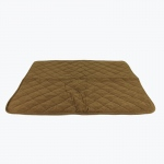 Carolina Pet Products DIAMOND QUILT MICROFIBER & CLOUD SHERPA THROW: Chocolate