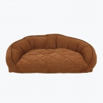 Carolina Pet Products MICROFIBER SEMI CIRCLE LOUNGE: Saddle