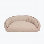 Carolina Pet Products MICROFIBER SEMI CIRCLE LOUNGE: Linen
