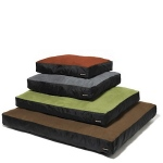 Big Shrimpy Original Dog Bed - Medium/Stone Suede