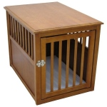 Crown Pet Products Dog Crate Table - Medium/Mahogany