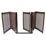 Dynamic Accents Walk Through 5 Panel Free Standing Pet Gate - Mahogany