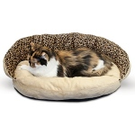 K & H Plush Bolster Sleeper Pet Bed - Leopard