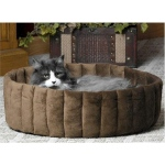 K & H Kitty Cup Pet Bed - Small/Mocha