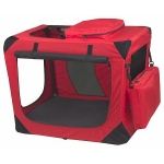 Pet Gear Generation II Deluxe Portable Soft Crate - Small/Red