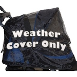 Pet Gear Weather Cover for No-Zip Jogger & AT3 Pet Stroller - Black