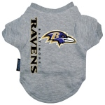 Pets First Baltimore Ravens Dog Tee Shirt - Small