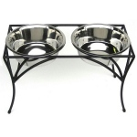 PetsStop Arbor Double Diner Raised Feeder - Small