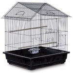 Prevue Hendryx Offset Roof Parakeet Cage - Black