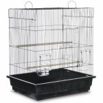 Prevue Hendryx Square Roof Parakeet Cage - Black