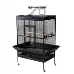 Prevue Hendryx Select Wrought Iron Play Top Parrot Cage - Pewter