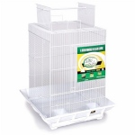 Prevue Hendryx Clean Life Play Top Bird Cage - Green & White