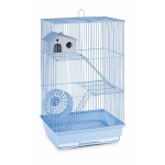 Prevue Hendryx Three Story Hamster & Gerbil Cage - Lite Blue