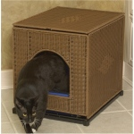 Mr. Herzher's Wicker Litter Box Cover - Large/Dark Brown