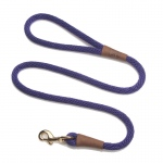 "Mendota Snap Leash: Purple, 1/2"" x 4'"