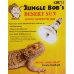 Jungle Bob Clear Mercury Vapor Lamp: Desert Sun, 100W, UVB/Heat, SPOT R30
