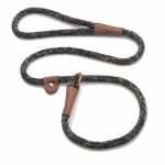 "Mendota British Style Slip Lead Rope: Leash and Collar in One, Camo, 1/2"" X 4'"