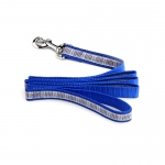 Color Pet™ Casey & Eddy Natural/Royal Leash: Small