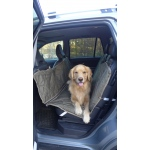 Carolina Pet Products BRUTUS TUFF BACKSEAT HAMMOCK: Olive