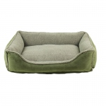 Carolina Pet Products FAUX SUEDE & TIPPED BERBER RECTANGLE COMFY CUP: OLIVE