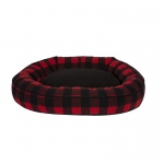 Carolina Pet Products CABIN BLANKET COMFY CUP: RED/BLACK