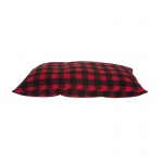 Carolina Pet Products CABIN BLANKET PET PILLOW: RED/BLACK