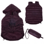 Pet Life Lightweight Adjustable 'Sporty Avalanche' Pet Coat: Large, Dark Cocoa Brown