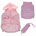 Pet Life Lightweight Adjustable 'Sporty Avalanche' Pet Coat: Large, Light Pink