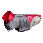 Helios Lotus-Rusher Waterproof 2-in-1 Convertible Dog Jacket w/ Blackshark technology: X-Large, Red, Charcoal Grey, Light Grey
