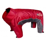 Helios Blizzard Full-Bodied Adjustable and 3M Reflective Dog Jacket: X-Small, Cola Red