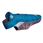 Helios Hurricane-Waded Plush 3M Reflective Dog Coat w/ Blackshark technology: Large, Blue Wave