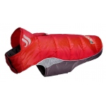 Helios Hurricane-Waded Plush 3M Reflective Dog Coat w/ Blackshark technology: X-Small, Molten Lava Red