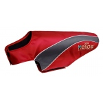 Helios Octane Softshell Neoprene Satin Reflective Dog Jacket w/ Blackshark technology: X-Large, Red, Grey