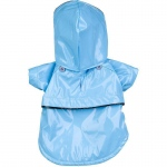 Pet Life Baby Blue Pvc Waterproof Adjustable Pet Raincoat: Medium, Light Blue