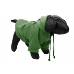 Pet Life Fashion Plush Cotton Pet Hoodie Hooded Sweater: Small, Green