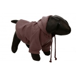 Pet Life Fashion Plush Cotton Pet Hoodie Hooded Sweater: Large, Brown