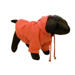 Pet Life Fashion Plush Cotton Pet Hoodie Hooded Sweater: Small, Orange