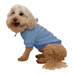 Pet Life French Terry Pet Hoodie Hooded Sweater: Small, Blue