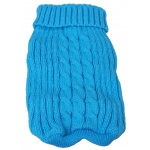 Pet Life Heavy Cotton Rib-Collared Pet Sweater: X-Small, Light Blue