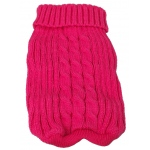 Pet Life Heavy Cotton Rib-Collared Pet Sweater: Medium, Light Pink