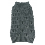 Pet Life Butterfly Stitched Heavy Cable Knitted Fashion Turtle Neck Dog Sweater: X-Small, Dark Grey
