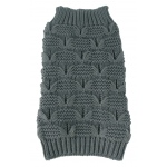 Pet Life Butterfly Stitched Heavy Cable Knitted Fashion Turtle Neck Dog Sweater: Small, Dark Grey