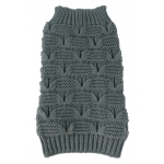 Pet Life Butterfly Stitched Heavy Cable Knitted Fashion Turtle Neck Dog Sweater: Large, Dark Grey