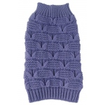 Pet Life Butterfly Stitched Heavy Cable Knitted Fashion Turtle Neck Dog Sweater: Small, Lavender Purple