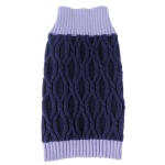 Pet Life Oval Weaved Heavy Knitted Fashion Designer Dog Sweater: X-Small, Lavender and Dark Purple