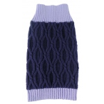 Pet Life Oval Weaved Heavy Knitted Fashion Designer Dog Sweater: Small, Lavender and Dark Purple