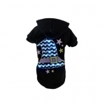 Pet Life LED Lighting Magical Hat Hooded Sweater Pet Costume: Large, Black