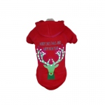 Pet Life LED Lighting Christmas Reindeer Hooded Sweater Pet Costume: Small, Red Deer
