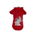 Pet Life LED Lighting Holiday Snowman Hooded Sweater Pet Costume: Small, Red Snowman