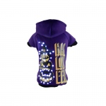 Pet Life LED Lighting Halloween Happy Snowman Hooded Sweater Pet Costume: X-Small, Purple